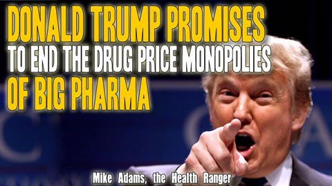 Image: Donald Trump promises to end the drug price monopolies of Big Pharma (Audio)