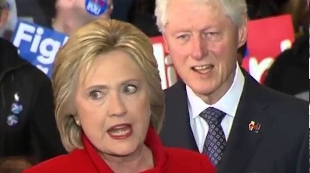 Image: Bill's ex-lover proclaims Hillary is a terrorist (Video)