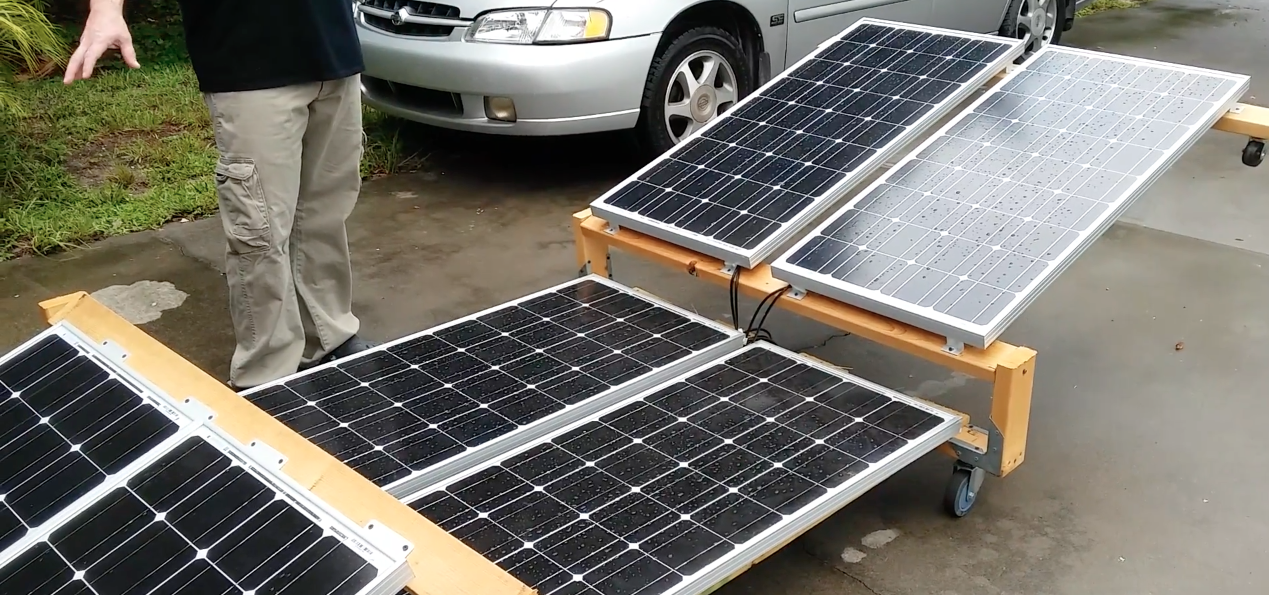 Image: Canning chicken with a solar generator (Video)