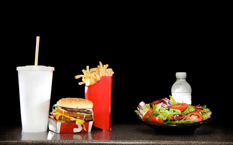 What 200 calories looks like junk vs healthy food video for Lean cuisine vs fast food