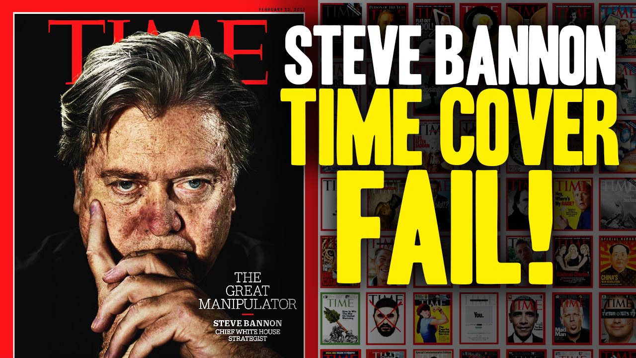 Steve Bannon >> TIME Manipulates Steve Bannon Cover Photo (Video)