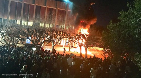Image: Protesters at Berkeley Destroy Campus (Video)