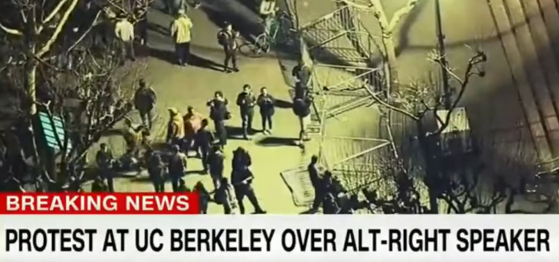 Image: UC Berkeley Students Turn into Violent Thugs to Block Milo Speech (Video)