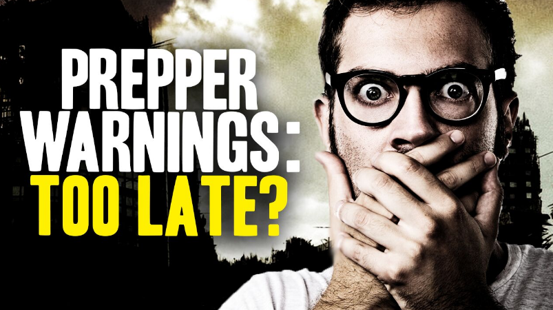 Image: Prepper Alert: If You're Not Already Prepping, You May be Too Late (Video)