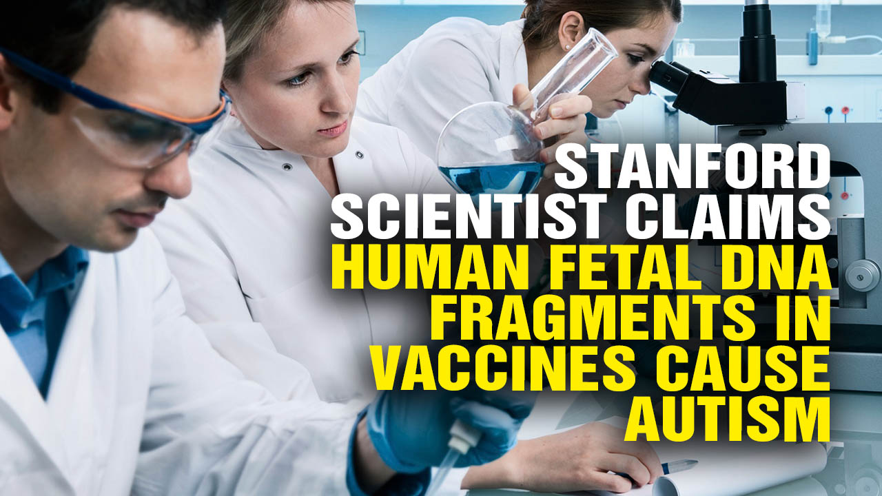 Image: Stanford Scientist Claims Human Fetal DNA Fragments in Vaccines Cause Autism (Video)