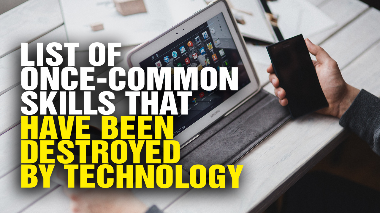 Image: Check out This List of Once-Common Skills That Have Been Destroyed by Technology (Video)