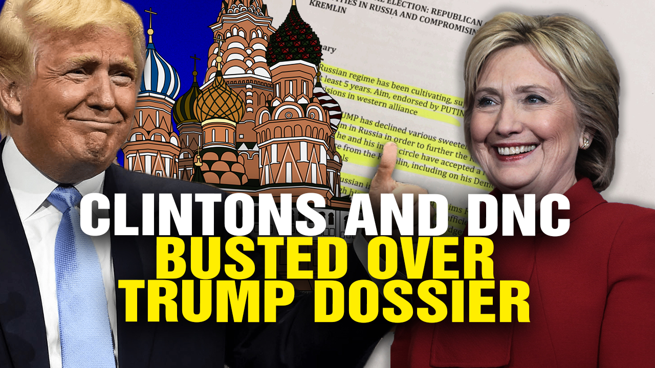 "Image: Clintons and DNC BUSTED over Trump ""Dossier"" (Video)"