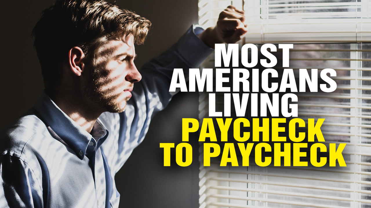 financial panic imminent as most people are living paycheck to paycheck  video