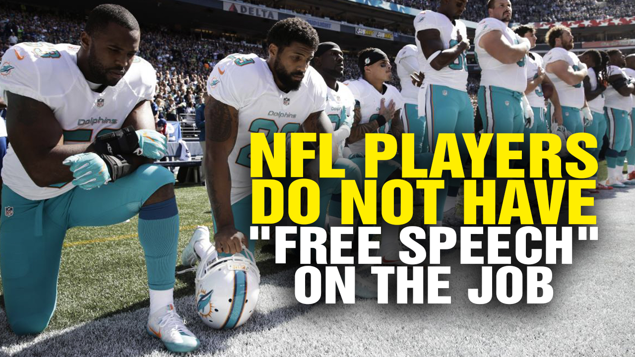 Image: NFL Players Do NOT Have Free Speech Rights on the Job (Video)