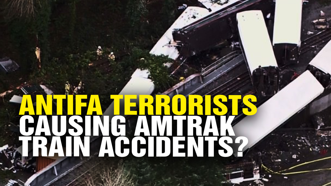 Image: Antifa Terrorists Causing Amtrak Train Derailments? (Video)